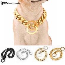 15 Mm Sterke Rvs Halsband Honden Training Choke Chain Halsbanden Voor Grote Honden Pitbull Bulldog Ketting