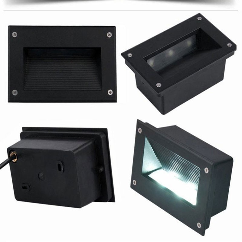 10 قطعة 3W 4W 5W الألومنيوم في الهواء الطلق للماء درج الزاوية جدار أضواء LED تحت الأرض مصابيح خطوة الدافئة الأبيض الباردة الأبيض AC100 240V