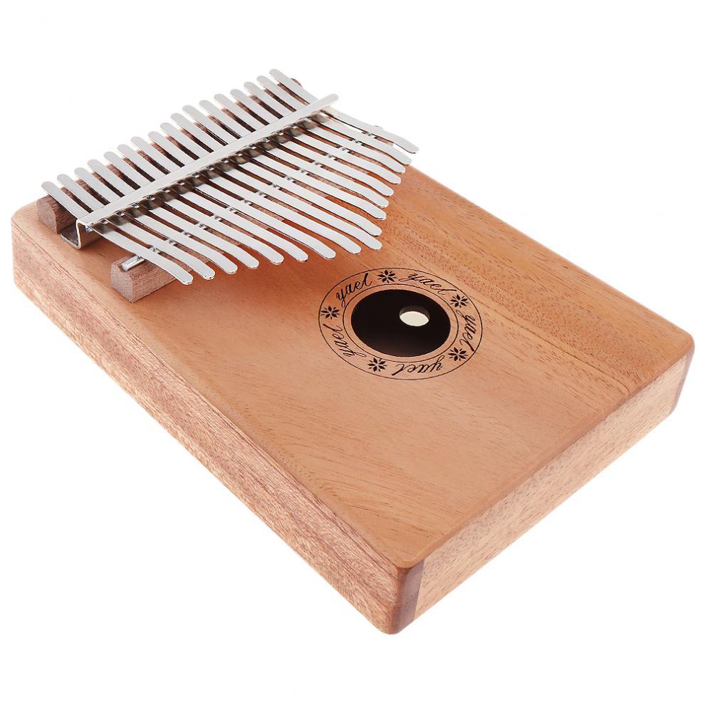 17 Key Kalimba Solid Mahogany Thumb Piano Mbira Natural Professional Portable Mini Keyboard Instrument with 7pcs Accessories enlarge