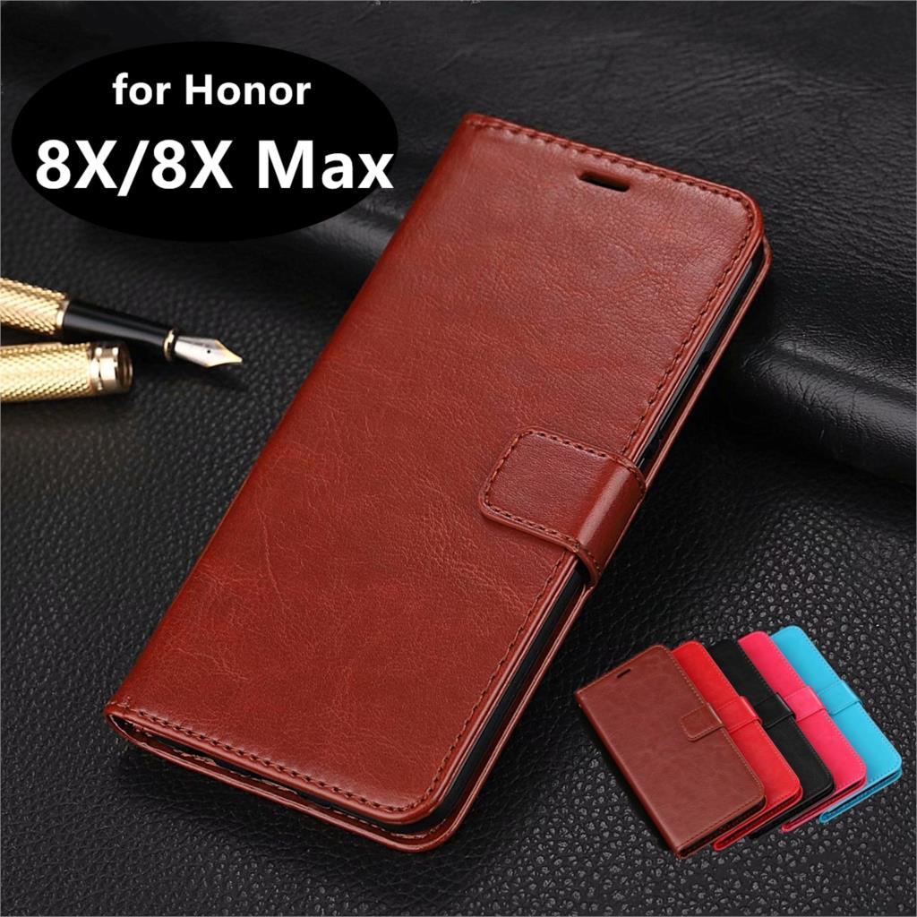 Высококачественный чехол для телефона из искусственной кожи с отделением для карт для Huawei Honor 8X/Honor 8X Max