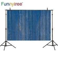 Funnytree خلفية للصور استوديو عمودي الأزرق الداكن جدار خشبي بسيط خمر سطح خلفية كشك الصور التقاط الصور