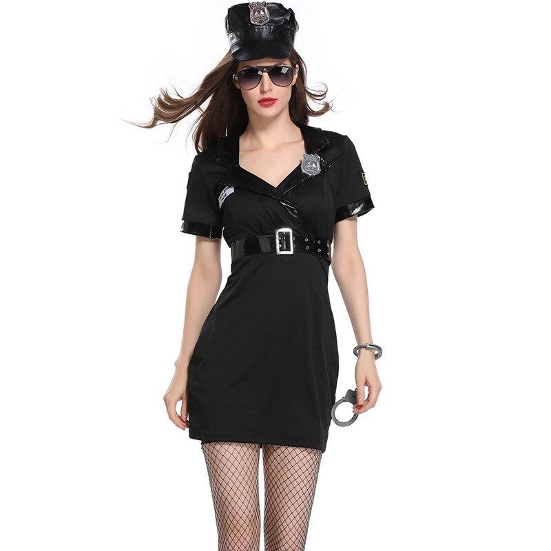 Женские вечерние костюмы на Хэллоуин, черные костюмы для косплея