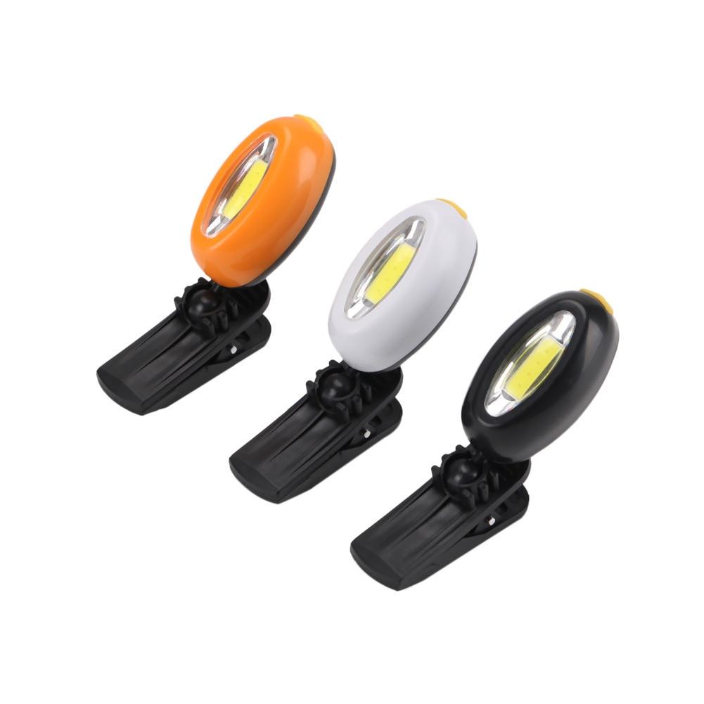 Linterna LED COB para exteriores con tapa de luz de 360 grados, luz giratoria con Clip para sombrero, lámpara de cabeza para manos, linterna de Camping para ciclismo