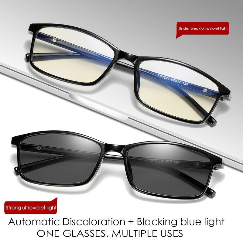 Filtro de Luz azul Computador Óculos Photochromic Transição TR90 Para Bloqueio UV Anti Fadiga Ocular do Olho Óculos de Jogos Dos Homens Das Mulheres