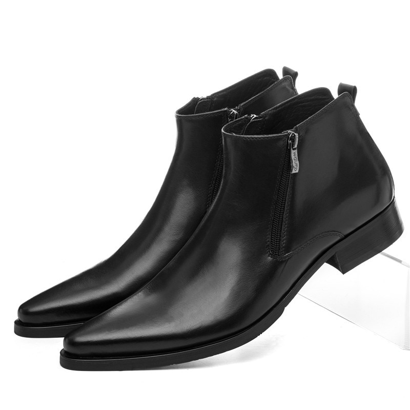 حجم كبير EUR46 الصوف نعل الشتاء الأسود الدافئة رجالي حذاء من الجلد فستان أحذية جلد طبيعي أشار تو رجل حذاء رسمي