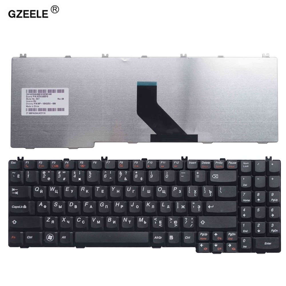 New RU Keyboard for Lenovo IdeaPad B550 B560 V560 G550 G550A G550M G550S G555 G555A G555AX series Black laptop 25-008405