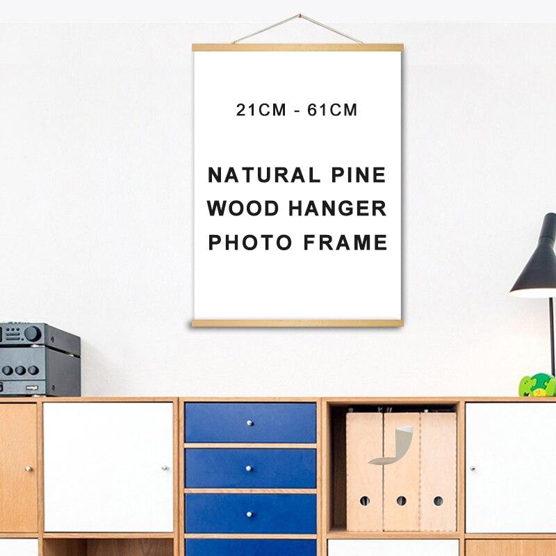 New Natural Solid Pine Wood Poster Hanger Frame for Pictures Canvas Prints Framework Artwork DIY Wall Art Living Room Decoration
