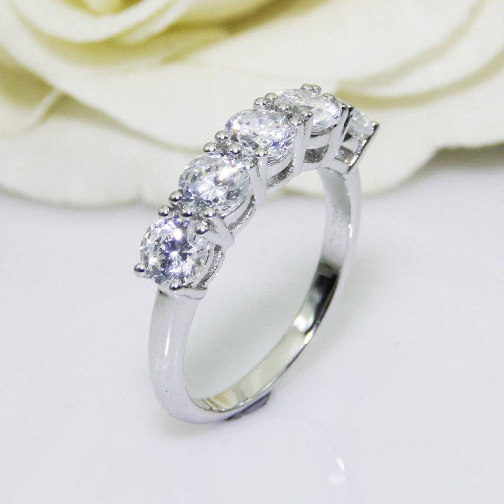 Centro de moissanita de Color DF de corte redondo 2.0CTW, oro de Blanco sólido 14K, anillo de oro femenino, anillo de boda, estilo de juego pavimentado
