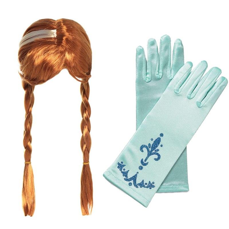 בנות נסיכת אנה כפפות פאה סטי סופיה סגול כפפת אלנה צמת אלזה כפפה ילדים נסיכת אורורה אלזה המפלגה אבזר אספקת