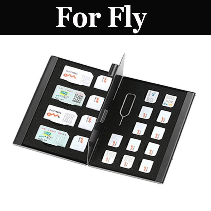 21 in 1 Kaarthouder Opbergdoos Nano Card Case Protector Aluminium Voor Fly Nimbus 15 16 7 9 Foto pro Power Plus 2 XXL