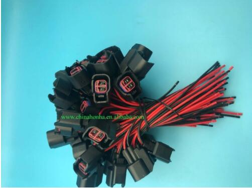 Ev6 ev14 2 pinos conector injector de combustível pigtail fio dodge ls2 ls3