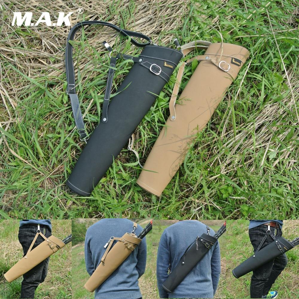 Cuero Puro flecha aljaba hombro-espalda diseño 52X13cm puede sostener 30 Uds flechas para tiro con arco caza tiro