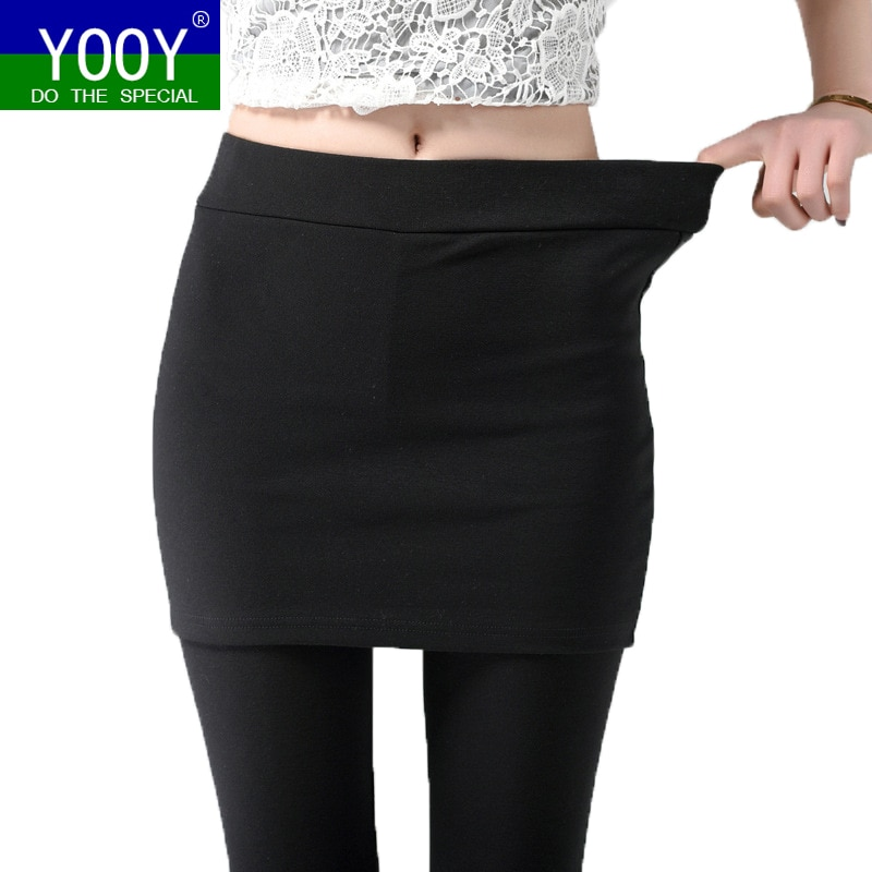 Легинсы YOOY для фитнеса, женские камуфляжные Легинсы большого размера для бега, леггинсы для фитнеса, женские брюки, брюки с длинной юбочкой