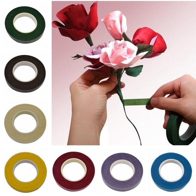 Cinta autoadhesiva de 30 yardas de 12mm, cinta de papel para el hogar, suministros para el hogar, artesanía DIY, decoración de boda, accesorios para envolver guirnalda de flores