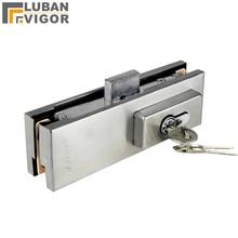 Serrure/boulon/loquet de porte en verre   clips de porte en acier inoxydable, renforcer, sans perçage, dessin fin, porte en verre sans cadre, 10-12mm