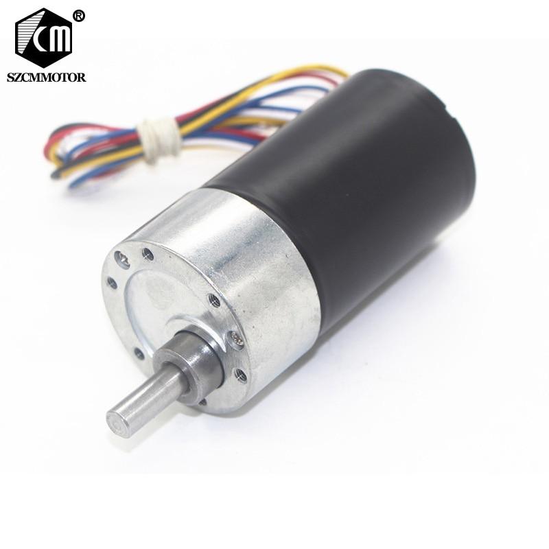 37mm Diameter Gear Box Powerful Micro Long Life High torque DC12V 24V Brushless Gear Motor Silent BLDC Geared Motor JGB37-3650