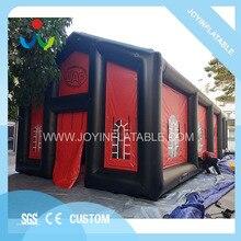 Rosso esterno del display cubo tenda gonfiabile tenda di mostra con quattro porte