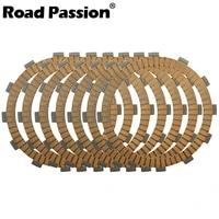 road passion 7pcs motorcycle clutch friction plates kit for kawasaki zx400 zzr400 2004 2006 zr400 zrx400 1998 2008 zx600 zzr600