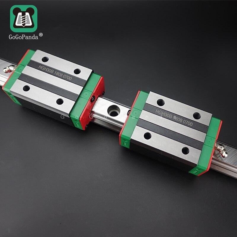 Guía lineal HGH15 L = 150, 200, 250, 300, 350, 400, 450, 500, 550, 600, 1000mm, vía lineal + carro lineal largo HGH15B o HGW15A