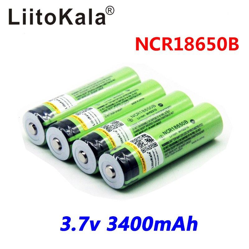 2018 original liitokala 18650 3400 mah pwb bateria 3.7 v rechargebale li-ion 18650b18650 protegido 3400