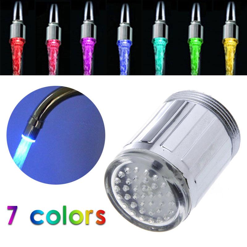 7 цветных насадок для крана, светодиодный светильник для крана, светодиодный светильник для крана, креативный светильник для крана, Прямая п...