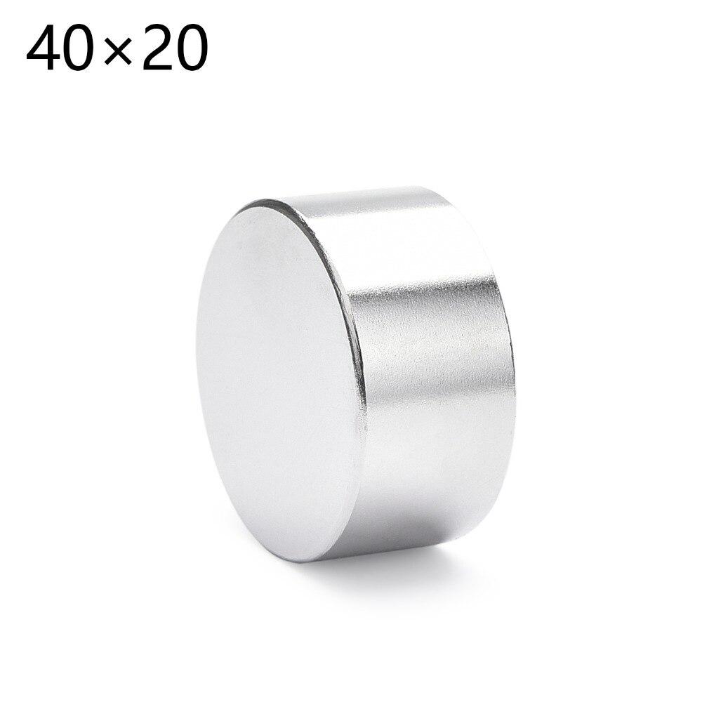 1 PCS n52 40mm x 20mm 40x20 Rodada Cilindro de Neodímio Ímãs Permanentes 40*20 NOVO ofício da arte de Conexão