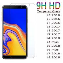 9H HD Tempered Glass For Samsung Galaxy J4 Plus J6 J8 2018 Screen Protector J3 J5 J7 2016 2017 Protective Glass J7 Prime Film
