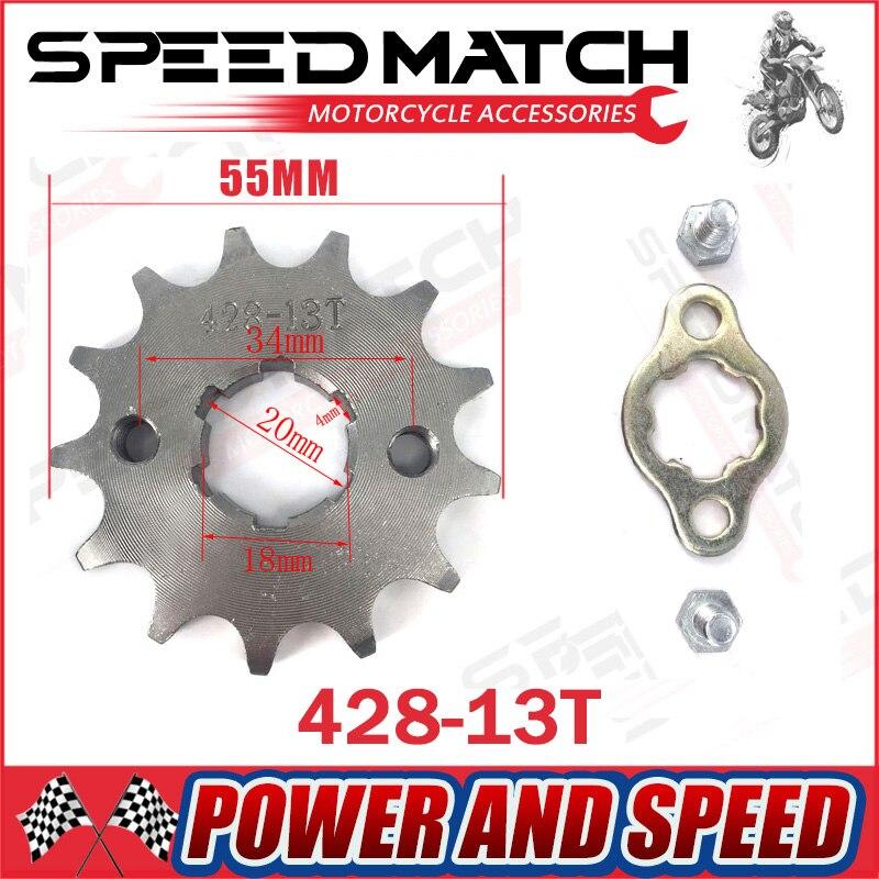 428 10-19 зуб 20 мм ID передняя Звездочка двигателя для Stomp YCF Upower Dirty Pit Bike ATV Quad Go Kart мопед Багги скутер мотоцикла