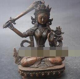 007249 coleccionable estatua de Buda de bronce antiguo chino --- Manjusri Bodhisattva