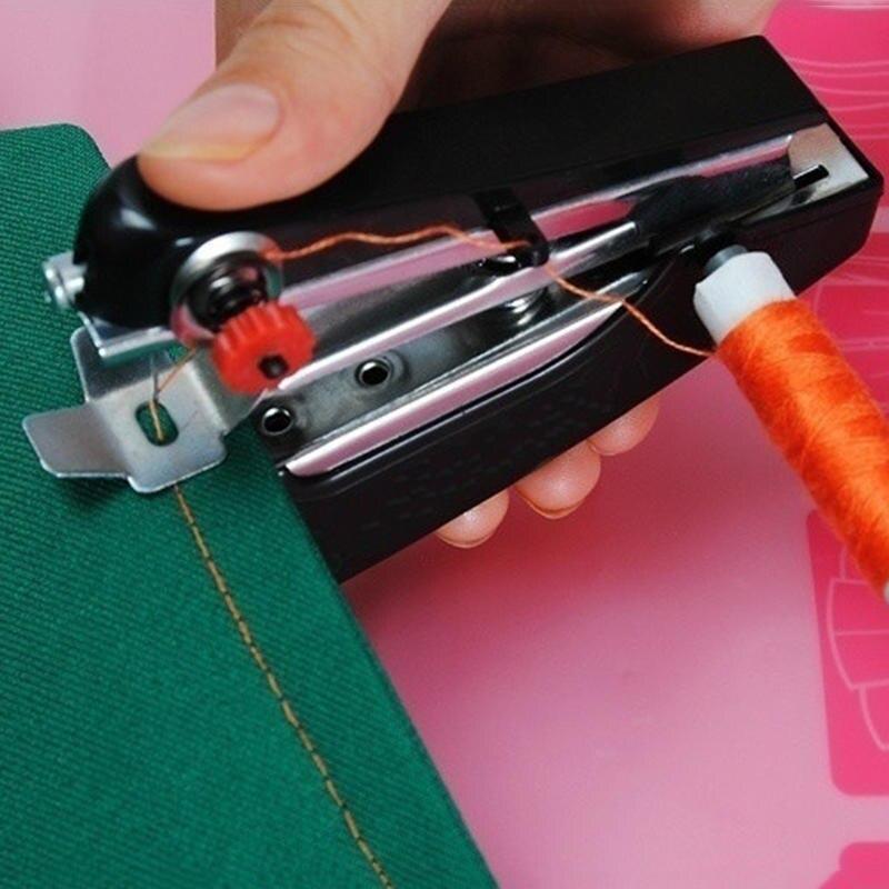 1pc Mini portátil de costura Manual máquina de operación Simple herramientas de costura de tela mano costura herramienta