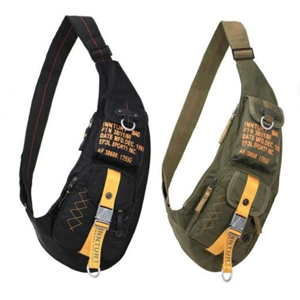 Men Waterproof Nylon Sling Chest Bag Cross Body Messenger Shoulder Bags Military Tactical for Travel Climbing Riding Back Pack