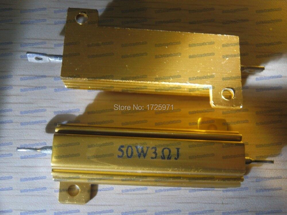 50 قطعة/الوحدة RX24-50W 3R 3 أوم LED تحميل المقاوم الألومنيوم حالة Wirewound المقاوم
