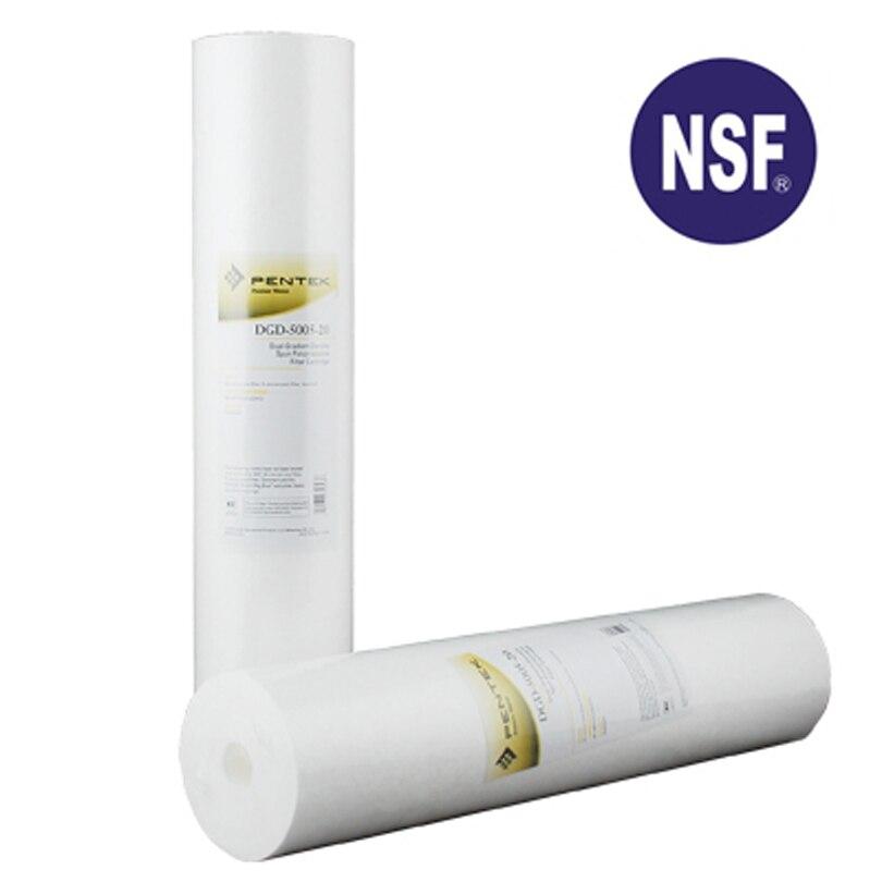 """Cartucho de filtro de agua de sedimento de polipropileno de 4,5 """"x 20"""" 50 micrones a 5 micrones densidad de gradiente Dual para agua purificador de"""