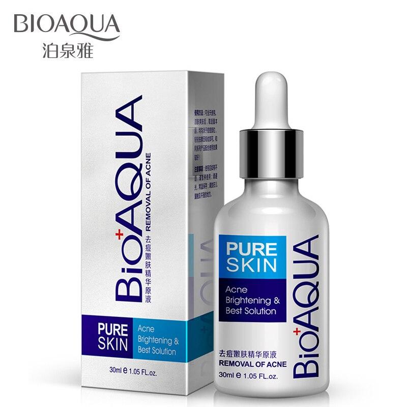 Bioaqua essência remoção líquida cravo espinha acne cuidados com o rosto clareamento cuidados com a pele hidratante óleo-controle maquiagem soro
