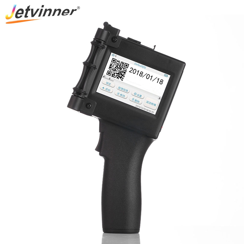 Impresoras portátiles Jetvinner para código QR, código de barras para embalaje de alimentos, acrílico, plástico, vidrio, Metal, pared
