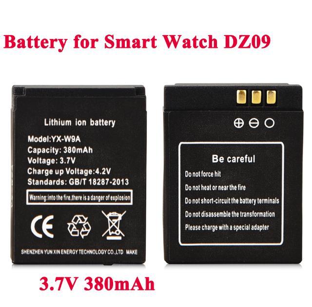 Высокое качество 1 шт. 3,7 В 380 мАч KSW-S6 RYX-NX9 Смарт-часы литий-ионный полимерный аккумулятор для DZ09 A1 Смарт-часы