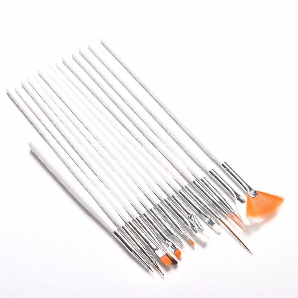 Escova de unhas Para Manicure Gel Pincel Para Nail Art 15 Pçs/set Nail Art Desenho da Pintura Da Escova Para Gradiente Para Gel Unha Polonês