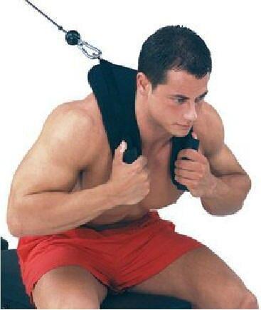 Ginásio ab crunch chicote de fios treinamento de energia cinta de treinamento de peso abdominal exercício puxando correia de ombro