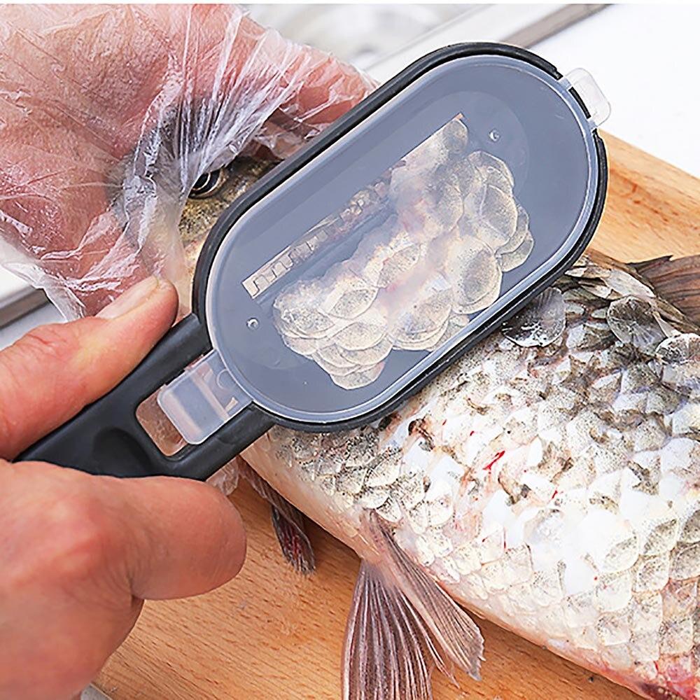 Nueva y práctica escamas para pescado, raspador, limpiador, herramienta de cocina, pelador, accesorios de cocina, herramientas de limpieza de pescado, artículos para el hogar