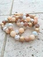 pave crystal accent beads gold ball bracelet agates stone bracelet strand bracelets boho ch