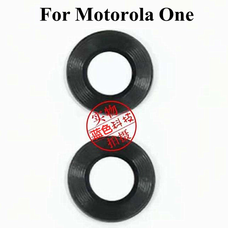20 unids/lote Original cámara trasera cristal funda de lentes para Motorola one P30 Play XT-1941-2 reemplazo de lentes de vidrio para cámara trasera