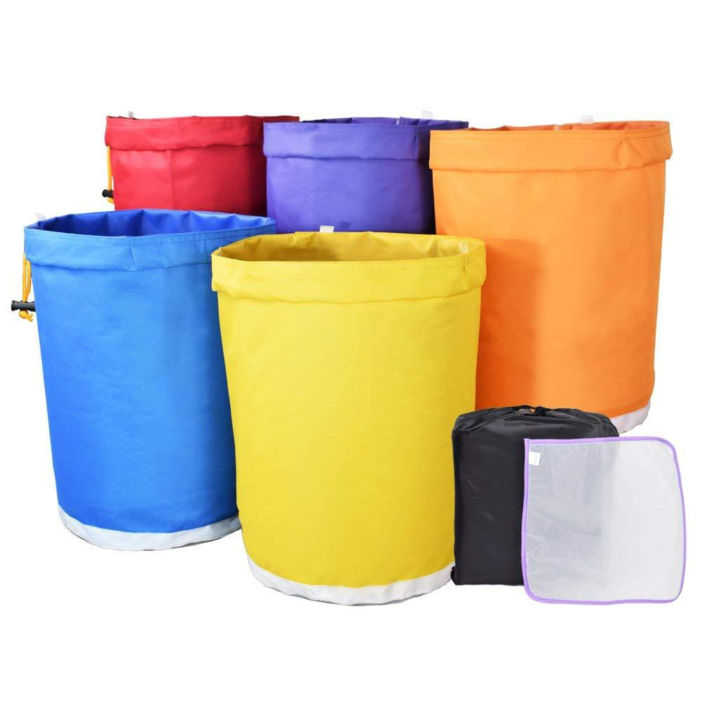 5 جالون كيس مرشح فقاعة حقيبة حديقة تنمو حقيبة التجزئة العشبية الجليد جوهر النازع عدة استخراج أكياس مع الضغط على الشاشة