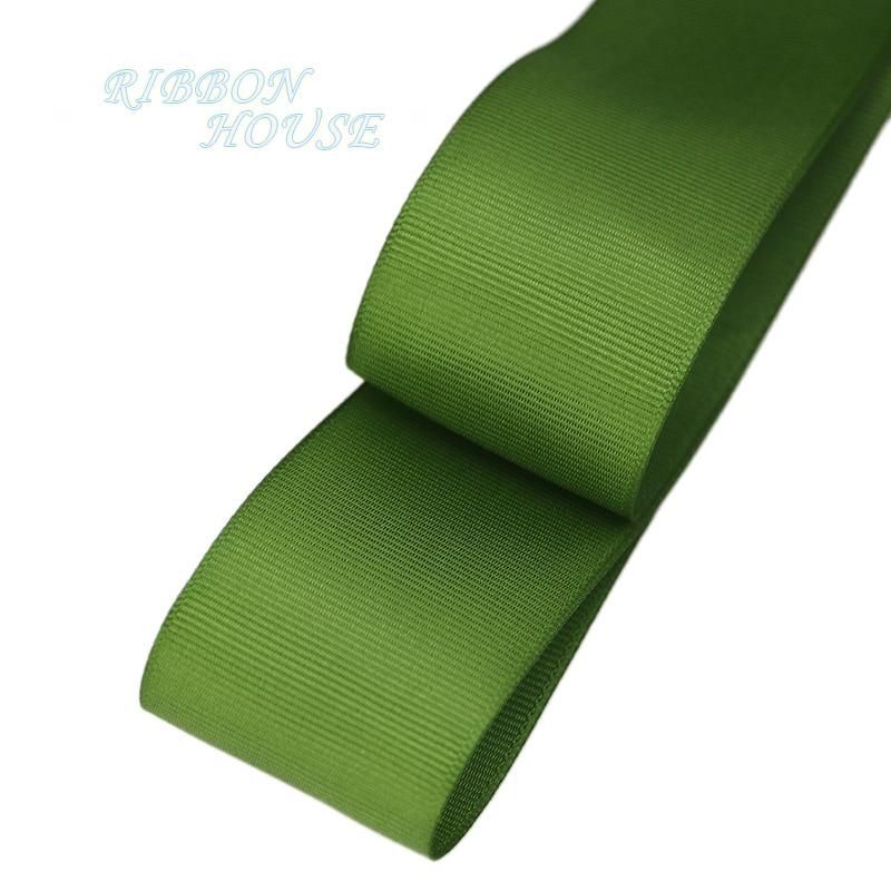 (10 metros/lote) 40mm lazo grogrén verde profundo al por mayor papel de regalo cintas de decoración de Navidad