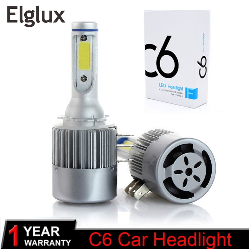 Elglux H15 Car led bulb Lamp Super Bright COB LED Headlight Auto LED Headlamp Replacement Canbus Err
