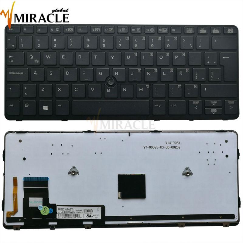 Teclado portátil auténtico y original Repair You Life para teclado Latino HP EliteBook 820 G1 820 g2 con retroiluminación de borde envío gratis