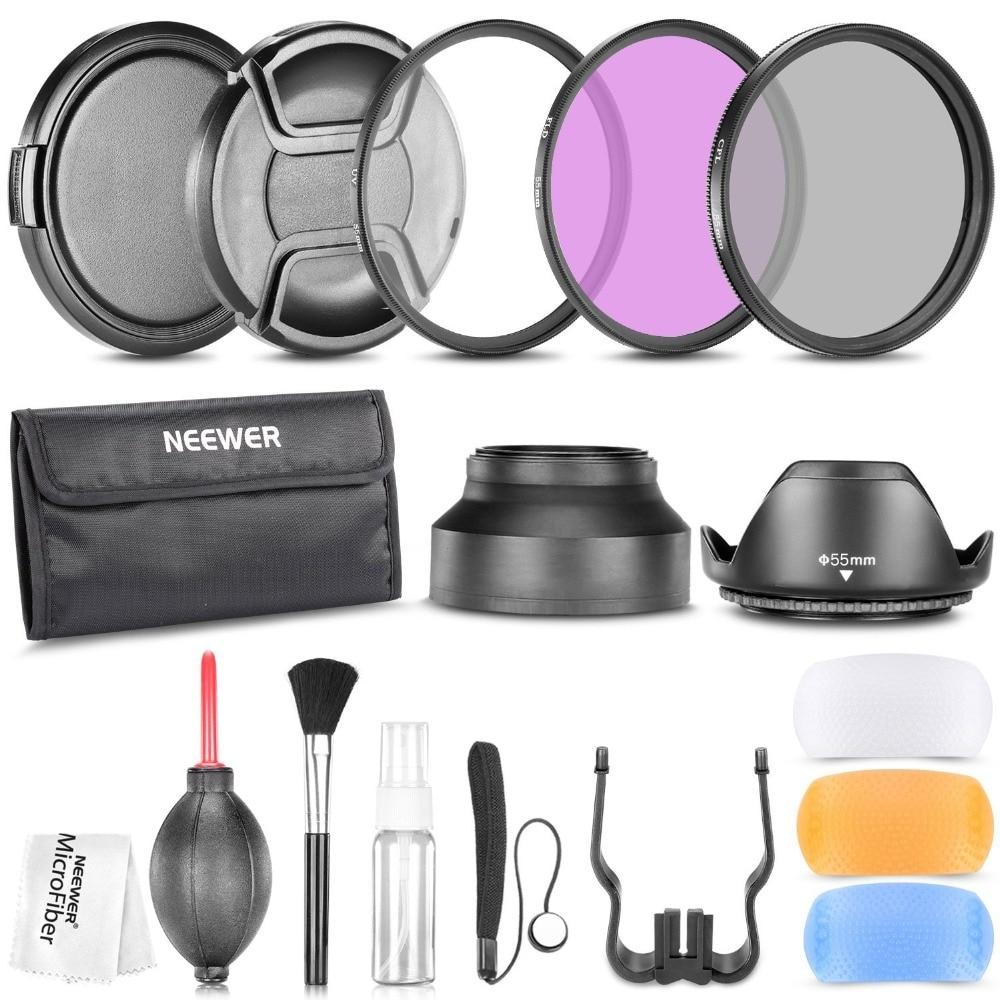 Neewer Kit daccessoires professionnels pour SONY Alpha Series A99 A77 A65 A58 A57 A55 A390 A100 appareils photo reflex numériques Kit de filtres