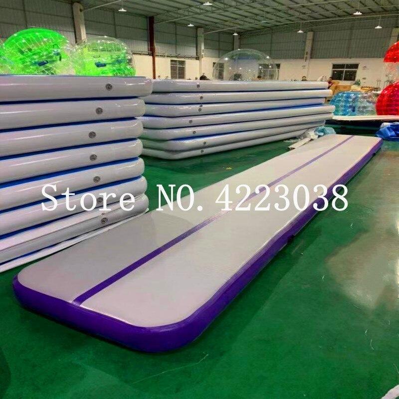 Freies Verschiffen 6 m 7 m 8 m Aufblasbare Gymnastik Matratze Gym Wäschetrockner Air track Boden Taumeln Air Track-matte für Erwachsene oder Kind