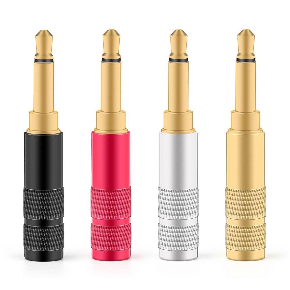 Areyourshop 3.5mm 2 Pole TS Mono Plug Male MINI Connector For Headphone Adapter Colorful Wholesale Plug Jack Connector
