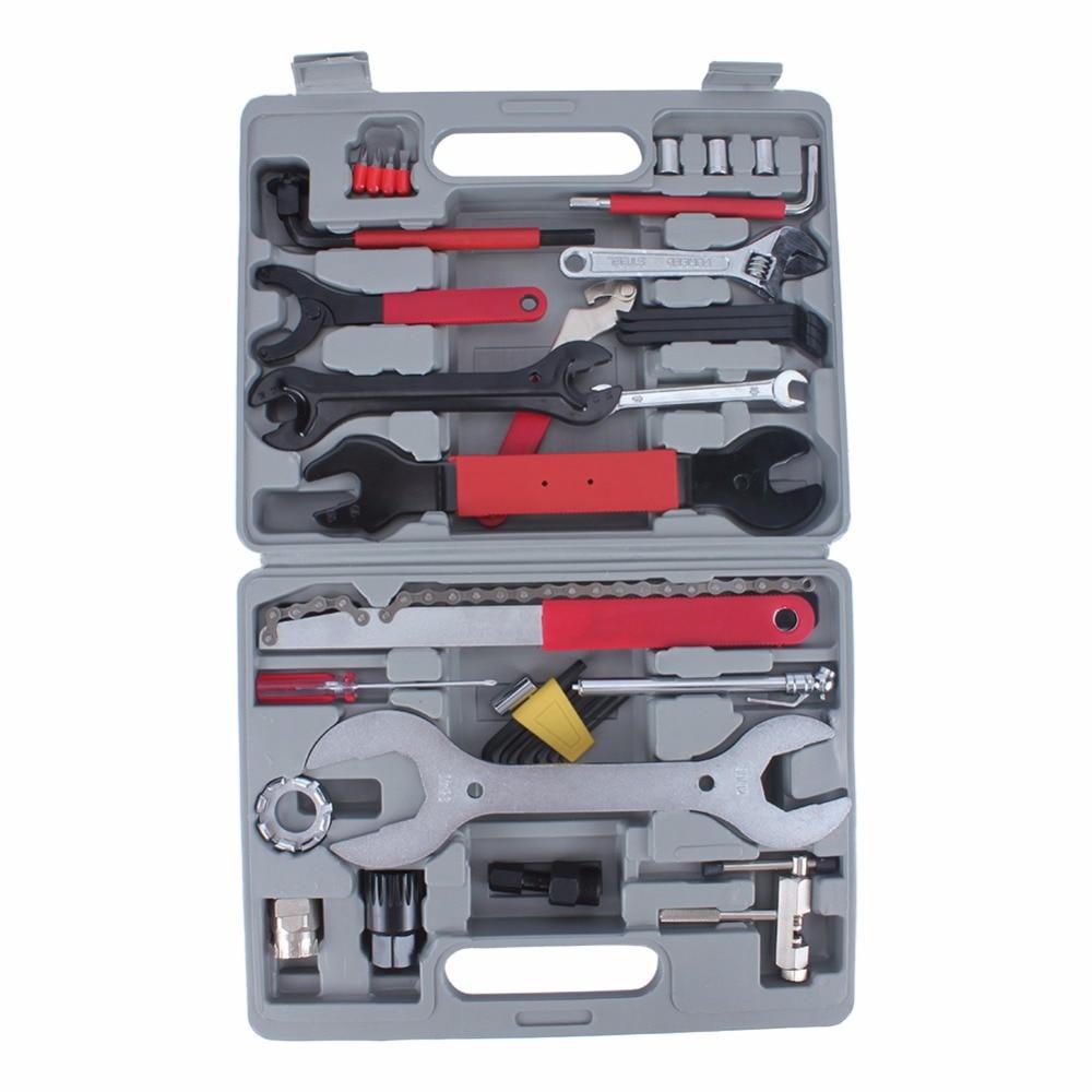 44Pcs/Set Multifunction Bike Repair Tool Set Wrench Sockets Tools Kit Bicycle Repair Hand Tools Set