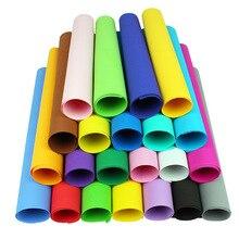10 pièces/lot 50*50cm 1mm EVA mousse papier à la main feuilles de mousse éponge papier bricolage artisanat matériaux multicolore